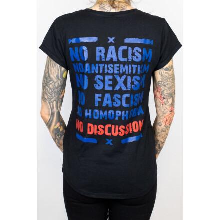 True Rebel Ladies Shirt No Discussion Black