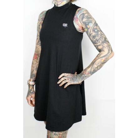 True Rebel Ladies Dress Turtleneck Black