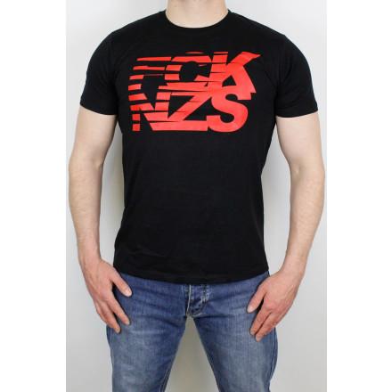 True Rebel T-Shirt Stripes Black Red