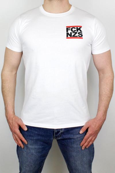 True Rebel T-Shirt FCK NZS Pocket Print White