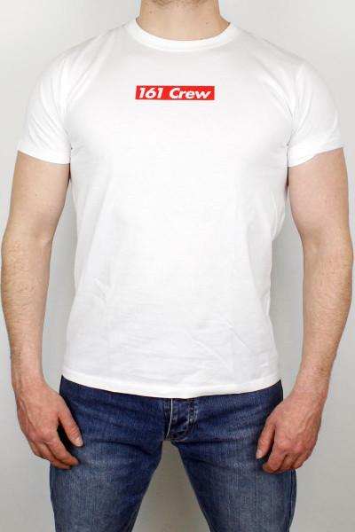 True Rebel T-Shirt 161 Crew White Red