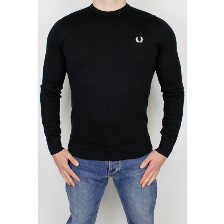 Fred Perry Jumper Classic Crew Neck Black