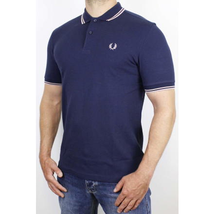 Fred Perry Polo Shirt Twin Tipped Dark Carbon