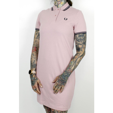 Fred Perry Ladies Dress Twin Tipped Chalky Pink