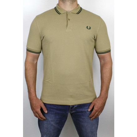Fred Perry Polo Shirt Twin Tipped Warm Stone