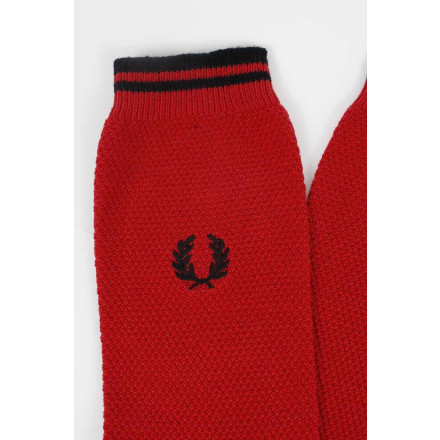 Fred Perry Socks Tipped Black Red