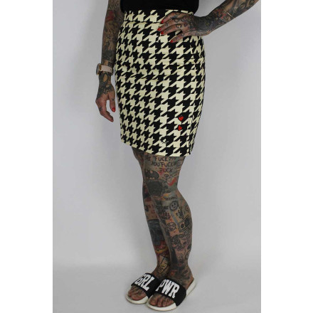 Fred Perry Ladies Amy Winehouse Pencil Skirt Iced Yellow