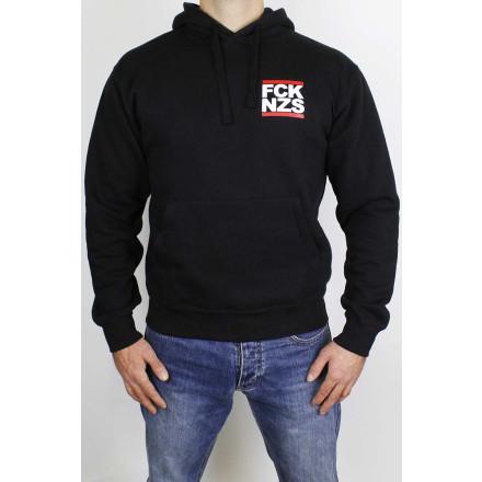 True Rebel Hoodie FCK NZS Pocket Print Black