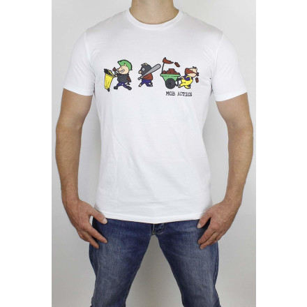 Mob Action T-Shirt Riot Pigs White