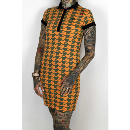 Fred Perry Ladies Amy Winehouse Pique Dress Houndstooth...