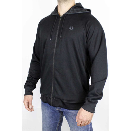 Fred Perry HoodieTaped Black