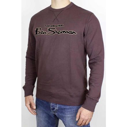 Ben Sherman Sweater Signature Logo Bordeaux