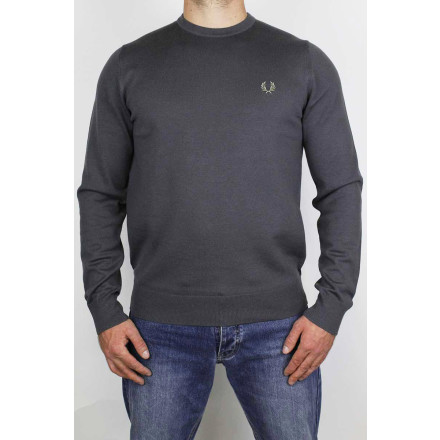 Fred Perry Jumper Classic Crew Neck Gunmetal