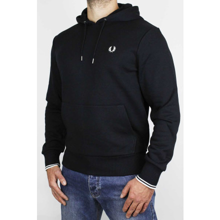 Fred Perry HoodieTipped Black