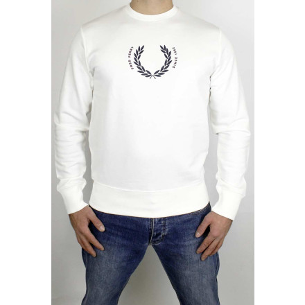 Fred Perry Sweater Laurel Wreath Snow White