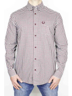 Fred Perry Shirt Gingham LS Aubergine