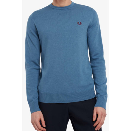 Fred Perry Jumper Classic Crew Neck Ash Blue