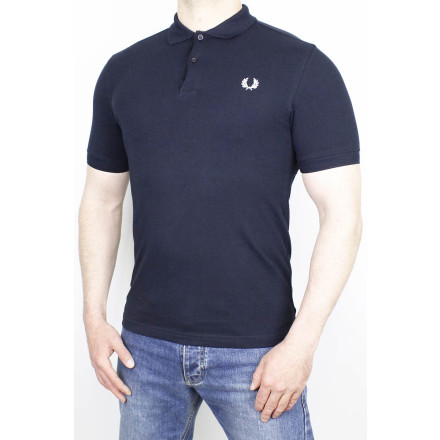 Fred Perry Polo Shirt Plain Navy