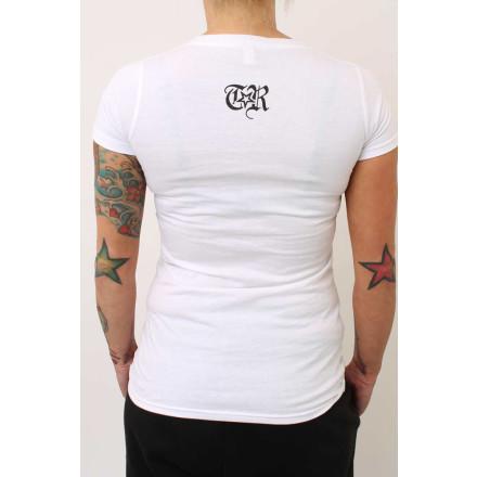True Rebel Ladies Shirt FCK NZS White