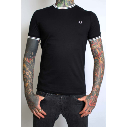 Fred Perry T-Shirt Twin Tipped Black