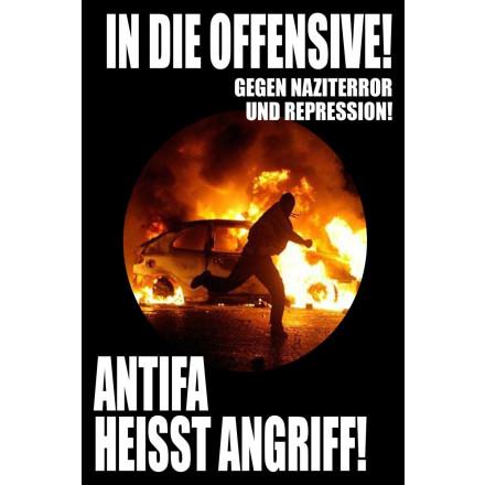 Sticker In Die Offensive (A6, 20 Stck)