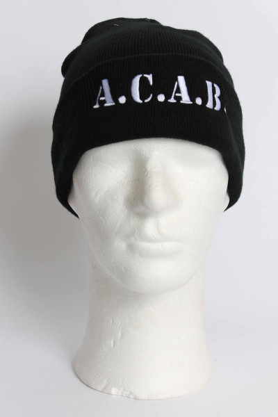 True Rebel Beanie ACAB Black