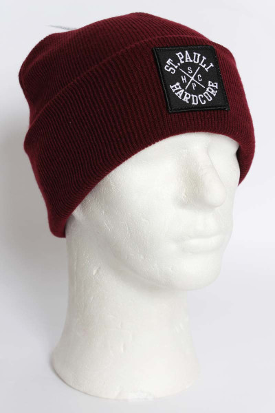True Rebel Beanie SPHC Cross Burgundy