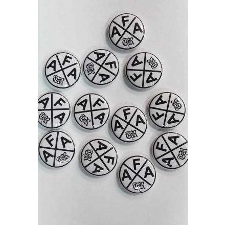 True Rebel Button AFA Cross White
