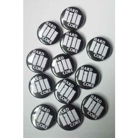 True Rebel Button Hardcore Black