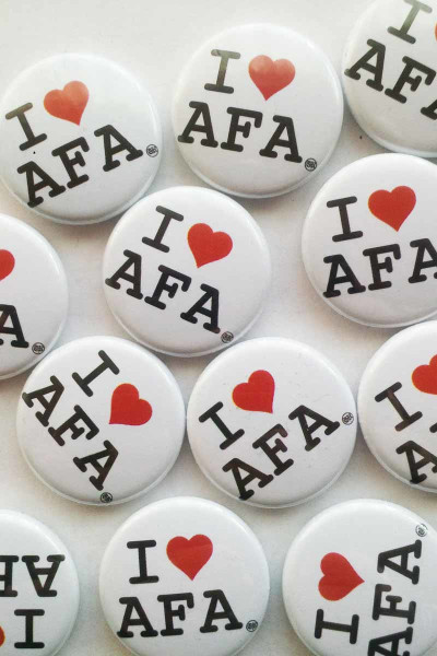 True Rebel Button I Love AFA