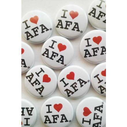 True Rebel Button I Love AFA