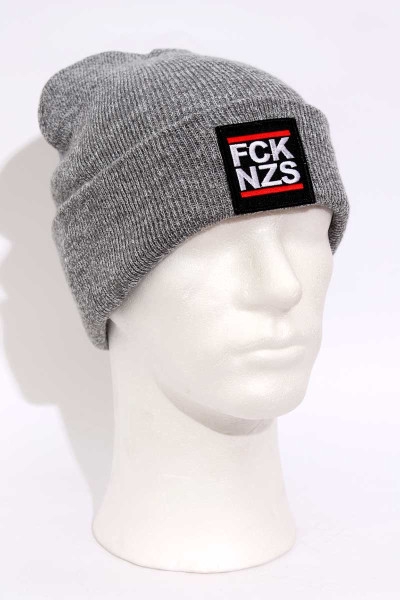 True Rebel Beanie FCK NZS Grey