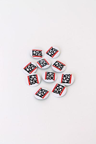 True Rebel Button FCK NZS White