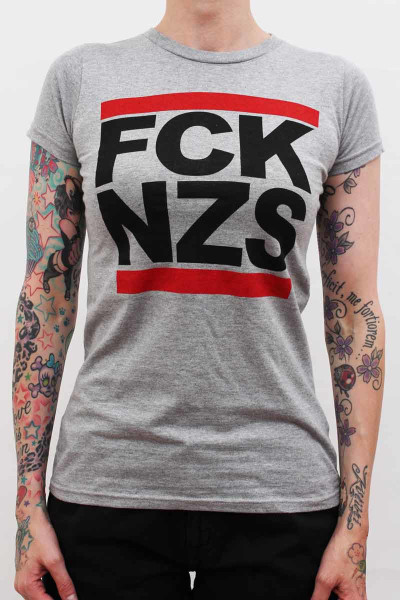 True Rebel Ladies Shirt FCK NZS Grey