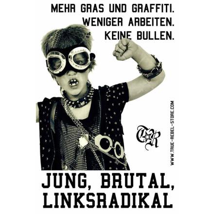 Sticker Jung, Brutal (DinA7, 25Stck)