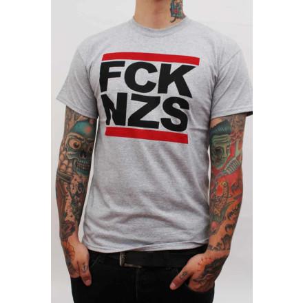 True Rebel T-Shirt FCK NZS Grey