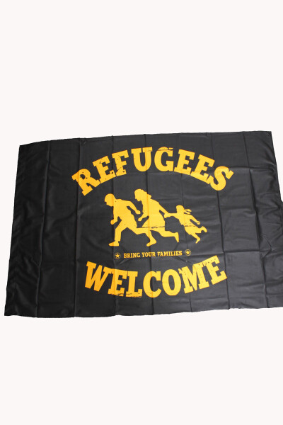 Flag Refugees Welcome 150x100cm