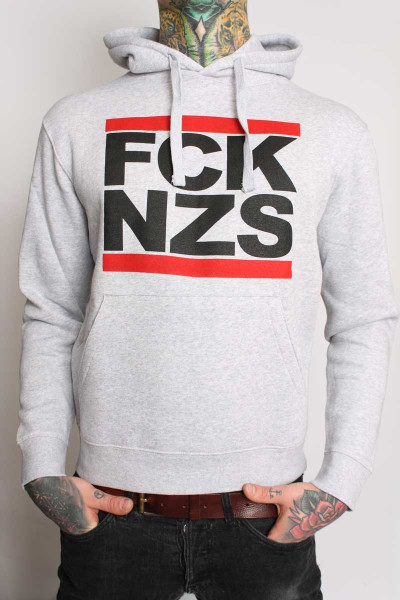 True Rebel Hoodie FCK NZS Grey