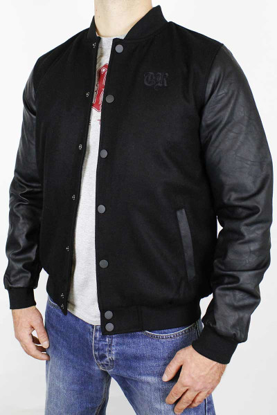 True Rebel Jacket College Oldschool Black